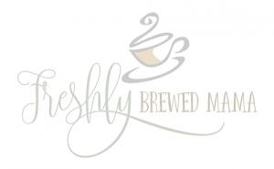freshly brewed mama logo, working mom, toddler, motherhood, potty training guide