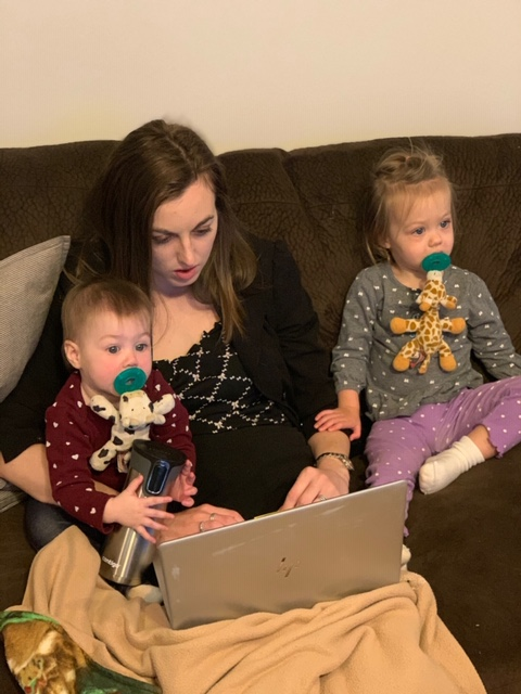 working from home full time with kids
