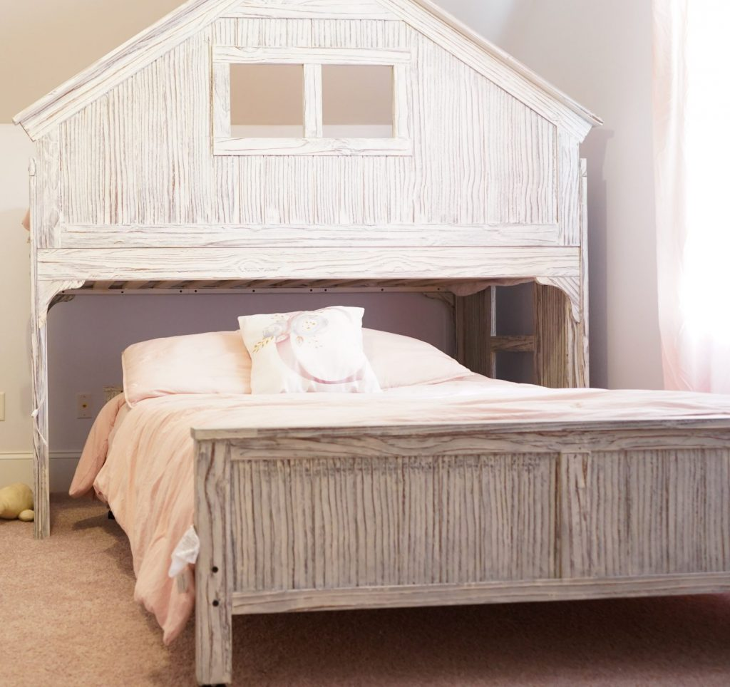 full bed loft twin kids bed