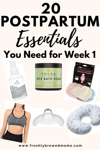 postpartum essentials for mom